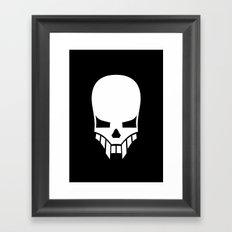 Sinister Skull Framed Art Print