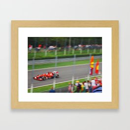 Fernando Alonso - 2013 Gran Premio d'Italia Framed Art Print