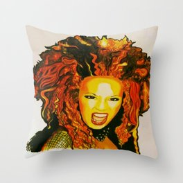 Scary Spice Throw Pillow
