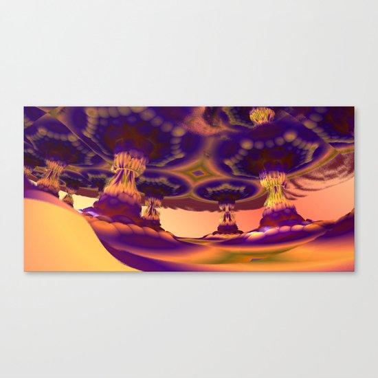 Nevermore Colonnade (3D Fractal Digital Art) Canvas Print