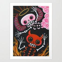 Angel & Devil Art Print