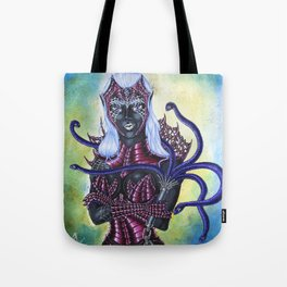 Portrait of Female Drow High Priestess of Lolth Tote Bag