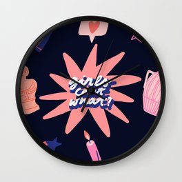 girls can't what? Wall Clock