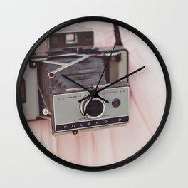 Pink Prom Dress + Polaroid = LOVE Wall Clock