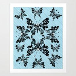 Bug Eyed Flutterbies Art Print