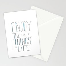 Enjoy the little things in life Stationery Cards