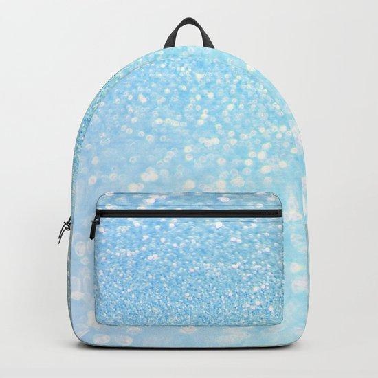 Diamonds are girls best friends I - Blue mermaid glitter texture Backpack