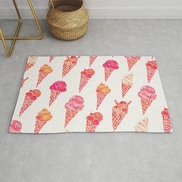 Ice Cream Cones – Pink & Peach Palette Rug