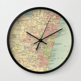 Vintage Map of Madras India (1909) Wall Clock