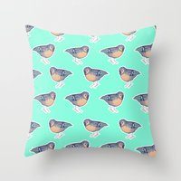 enerjax Throw Pillows featuring With My Peeps by enerjax