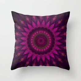 Stain glass Mandala Throw Pillow