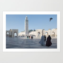Two Women, Hassan II Mosque Art Print