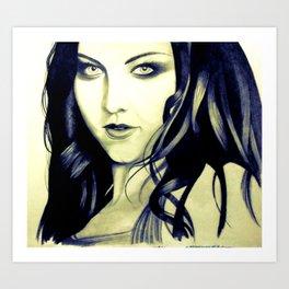 Beautiful Amy Lee Art Print