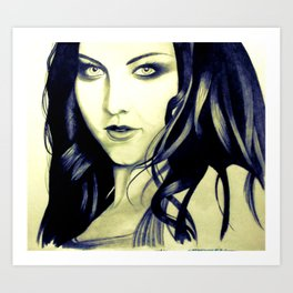 Beautiful Amy Lee Art Print