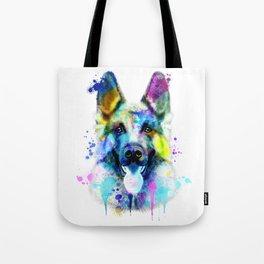 German Shepherd Watercolor, Watercolor Dog print, German Shepherd Print, German Shepherd Art Tote Bag