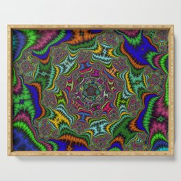 Fractal Abstract 80 Serving Tray