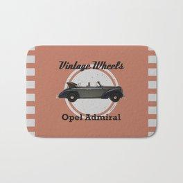 Vintage Wheels: Opel Admiral Bath Mat