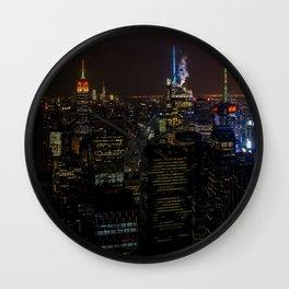 NYC Skyline View Wall Clock