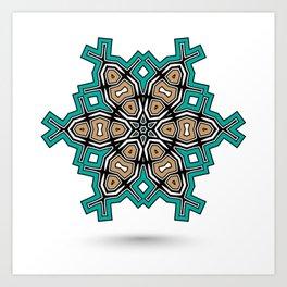 abstract maya mandala Art Print