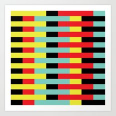 Yellow, Red, Blue Layers (2013) Art Print