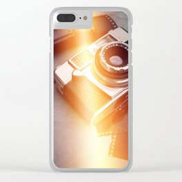 Vintage Camera and Film II Clear iPhone Case