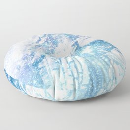 Celestial Guardian Angel Periwinkle Blue Floor Pillow