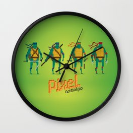 Ninja Turtles - Pixel Nostalgia Wall Clock