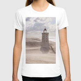Sandstorm at the lighthouse T-shirt