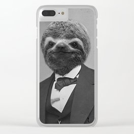 Gentleman Sloth 12 Clear iPhone Case