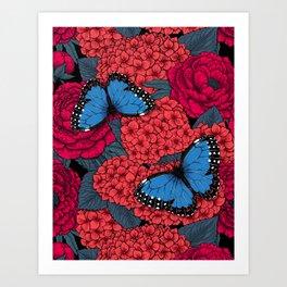 Blue morpho Art Print