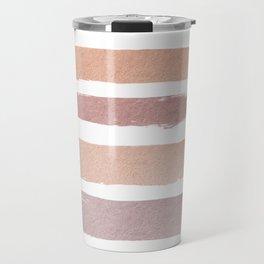 Dusty Rose Stripes Travel Mug