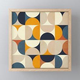 mid century abstract shapes fall winter 1 Framed Mini Art Print