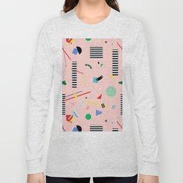 Memphis Geometry Lesson Long Sleeve T-shirt