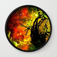 lincoln Wall Clocks featuring Abraham Lincoln by Saundra Myles