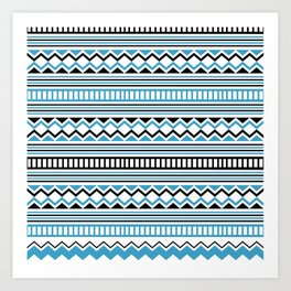 Tribal Scarf Art Print