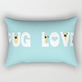 Pug Love Rectangular Pillow