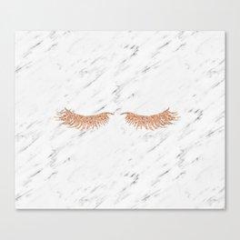 Rose gold marble lash envy Canvas Print