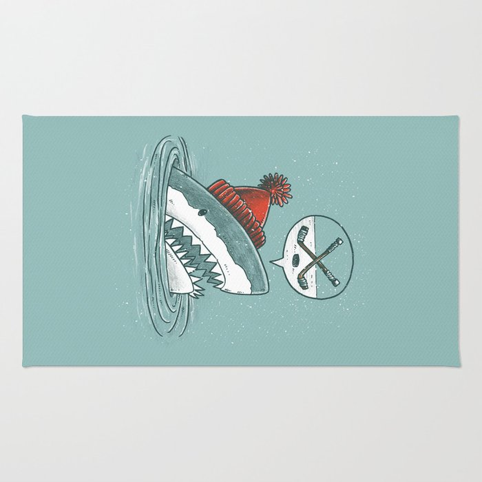 Hockey Shark Rug