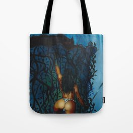 Wolf Cliff Tote Bag