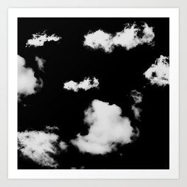 black & white clouds #1 Art Print