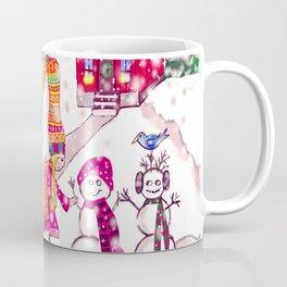 Merry Christmas Snowgirl Coffee Mug