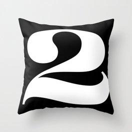 Two (White) Throw Pillow