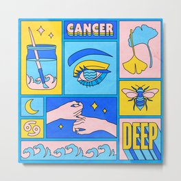Cancer Metal Print