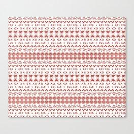 Scandi Hygge Red Canvas Print