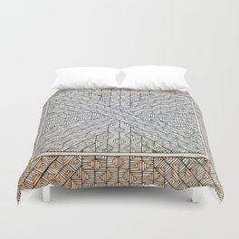 All Boxed In Duvet Cover