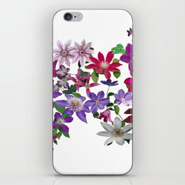 Cascade of Clematis iPhone Skin