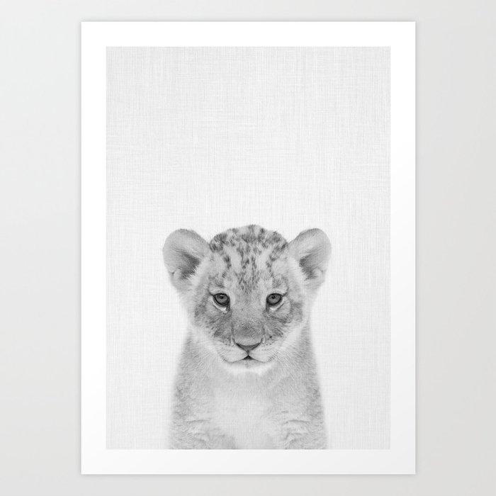 Baby Lion Kunstdrucke