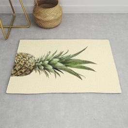 Pineapple Fruit Photography | Summer Happy Tropical Vibes | Art Rug