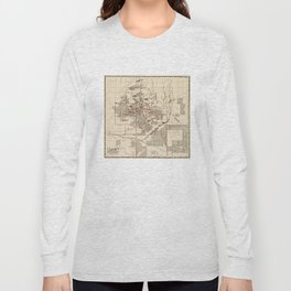 Vintage Map of Butte Montana (1909) Long Sleeve T-shirt
