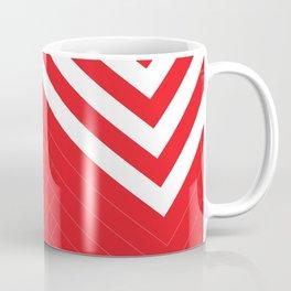 Red White Geometric #red #white #artdeco #fresh #summer #minimal #art #design #kirovair #geometric # Coffee Mug